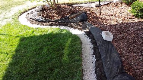 add landscape edging block   landscaping