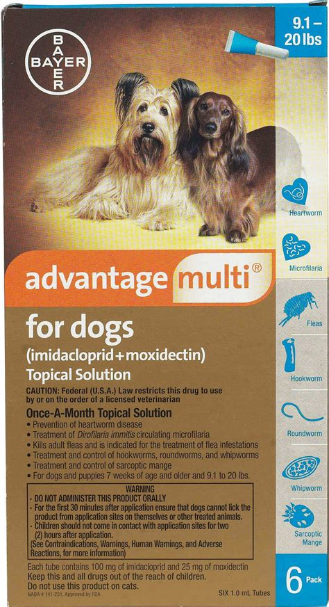 advantage multi  dogs heartworm topical solution bayer