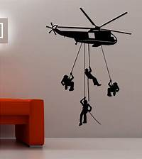 best army wall decals ARMY TROOPS HELICOPTER wall art quote sticker vinyl KIDS ...