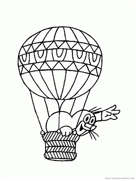 Coloring Templates Printable by Balloon Template Printable Coloring Home