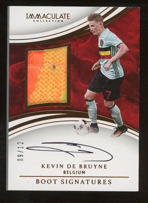2017 Immaculate Soccer Boot Kevin De Bruyne Belgium Cleat ...