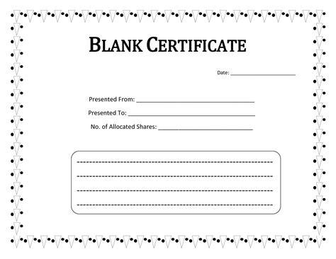 certificate templates blank printable blank certificate template word calendar template letter format printable holidays