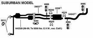 Gmc Suburban C1500 Exhaust Diagram From Best Value Auto Parts