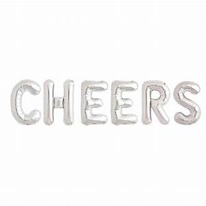 cheers 16 inch balloon letters by bubblegum balloons With 16 balloon letters