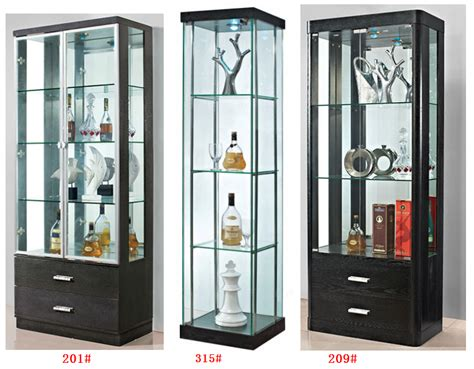 Curio Storage Cabinet by Sitting Room Furniture Contracted Tempered Glass Storage
