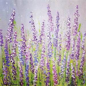 Lavender Field Acrylic Painting Tutorial on YouTube by ...