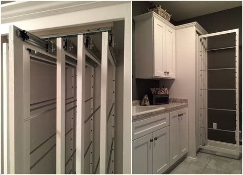 clever pull  laundry storage  organization ideas