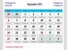 Free download Kalender 2015 lengkap penanggalan Islam
