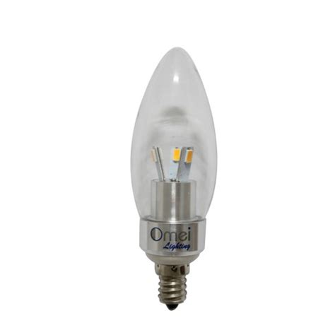 tip led 3w e12 candelabra base bulbs 40w 40 watt