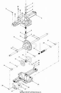 Troy Bilt 13at609g766 Super Bronco  2004  Parts Diagram For Differential Assembly