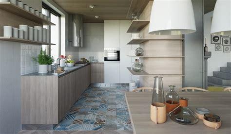 sol cuisine ouverte cuisine ouverte sur salon aux accents gris et jaunes