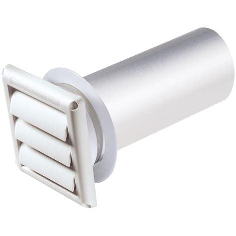 bathroom fan vent pipe 4 quot vent hood w pipe collar white unassembled deflecto llc