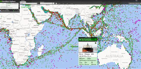 Boat Traffic Finder by Finally Satellite Tracking Data Fully Visualized Global