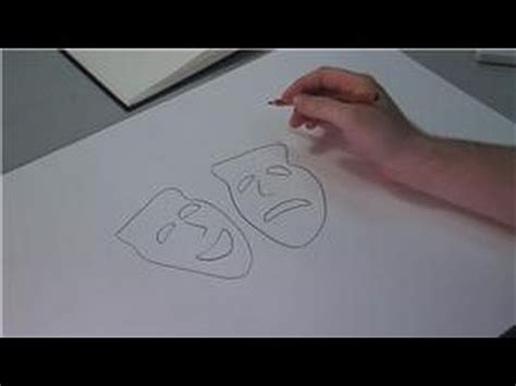 Drawing Lessons  How To Draw A Drama Mask Youtube