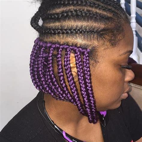 purple  black box braids  natural hairstyles