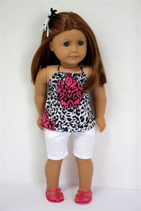 american doll american doll clothes halter top and jean shorts