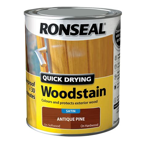 ronseal quick drying satin woodstain
