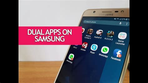 dual apps dual messenger on samsung galaxy j7 max how to use it