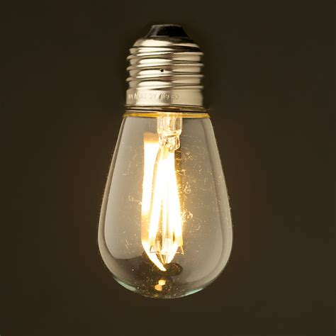 Euro Lamp Shade by 2 Watt Dimmable Filament Led E27 Mini Edison Bulb