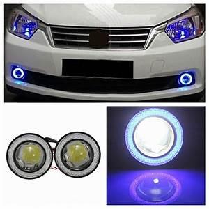Phare Auto : 12v 3 led phare antibrouillard projecteur angel yeux anneau lumi re voiture bleu achat ~ Gottalentnigeria.com Avis de Voitures