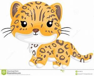 Cute Little Jaguar stock vector. Illustration of predator ...