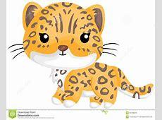 Cute Little Jaguar stock vector Illustration of predator