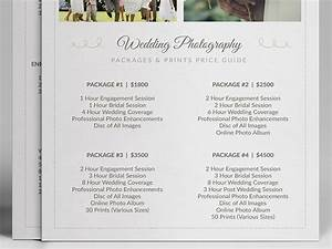 wedding photographer pricing guide price sheet list 5x7 With wedding photography packages template