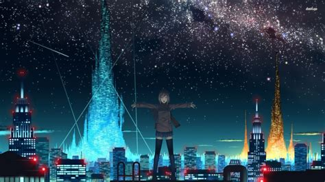 Starry Sky Anime Wallpaper - free anime starry sky wallpaper background at cool