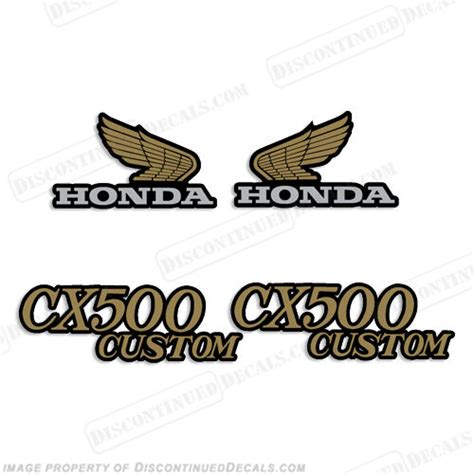 1980 honda cx500 gas tank wings and side cover decal graphics like oem nos ebay