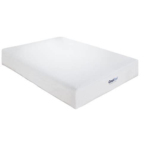cool gel memory foam mattress cool gel size 8 in gel memory foam mattress 410069