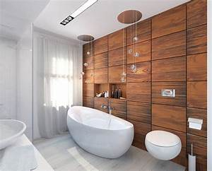 Wood accent wall ideas for your home for Bathroom in the woods