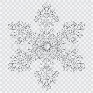 Big translucent crystal snowflake in gray colors on