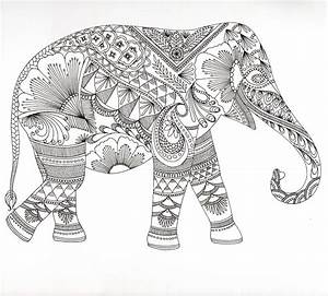 16 dessins de coloriage elephant mandala a imprimer With couleur pour un salon 15 dessins black crow tattoo