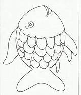 Fish Coloring Craft Rainbow Page2 Esl Multicultural Stuff Paper Glue Preschoolers Creation Crafts Pages sketch template