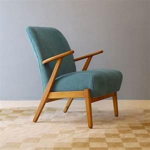 Fauteuil Années 50 : fauteuil vintage scandinave bleu design 50 la maison retro ~ Dallasstarsshop.com Idées de Décoration