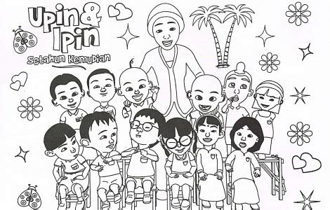 upin ipin family coloring page  pinterest design room