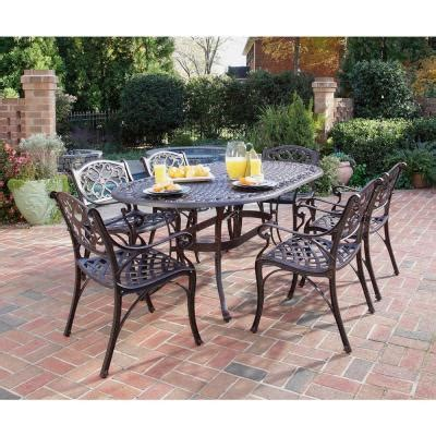 home styles biscayne bronze 7 piece patio dining set 5555