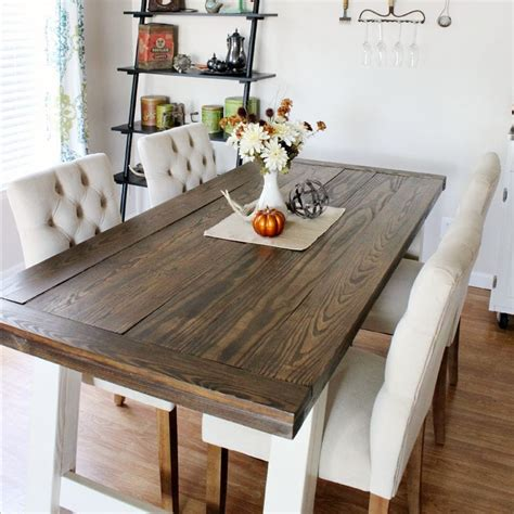 diy farmhouse style dining table  kolb corner