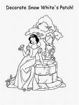 Coloring Disney Princess Cake Patty Eye Printable Games Cartoon Patch Snow sketch template