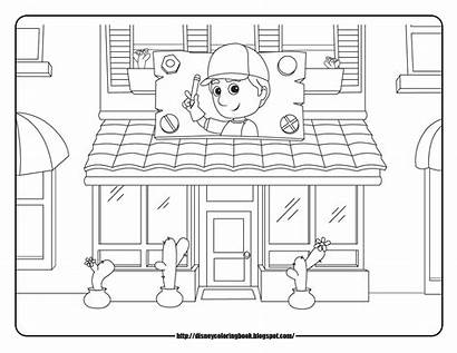 Handy Manny Coloring Disney Sheets Pages Repair