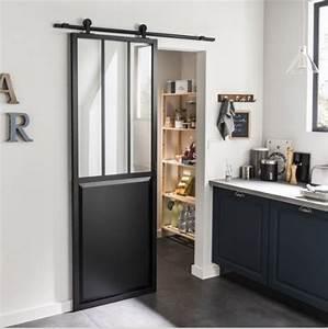 quincaillerie de porte coulissante style grange pas chere With porte de garage coulissante avec porte en verre interieur