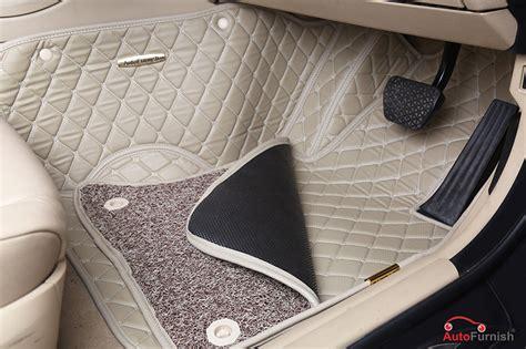 7d Luxury Custom Fitted Car Mats For Tata Hexa Beige