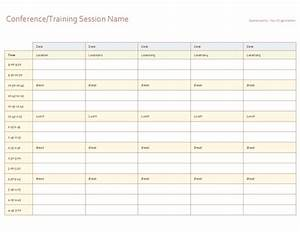 five day event schedule office templates With 5 day calendar template excel