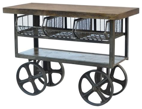 save to the uttermost industrial iron trolley industrial kitchen islands and