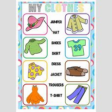 Clothes (matching)  Interactive Worksheet