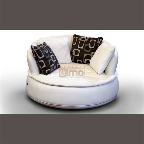 fauteuil rond design moderne cuir assise microfibres