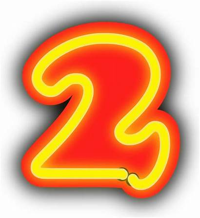 Neon Number Clipart Numbers Numerals Background Numeral