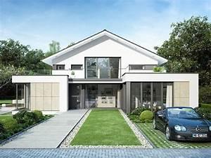 Fertighaus Mit Anbau : einfamilienhaus mit modernem flachdach anbau haus ~ Lizthompson.info Haus und Dekorationen