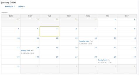 create calendar drupal