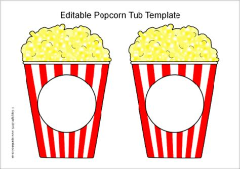 Popcorn Container Template by Popcorn Printable Just B Cause